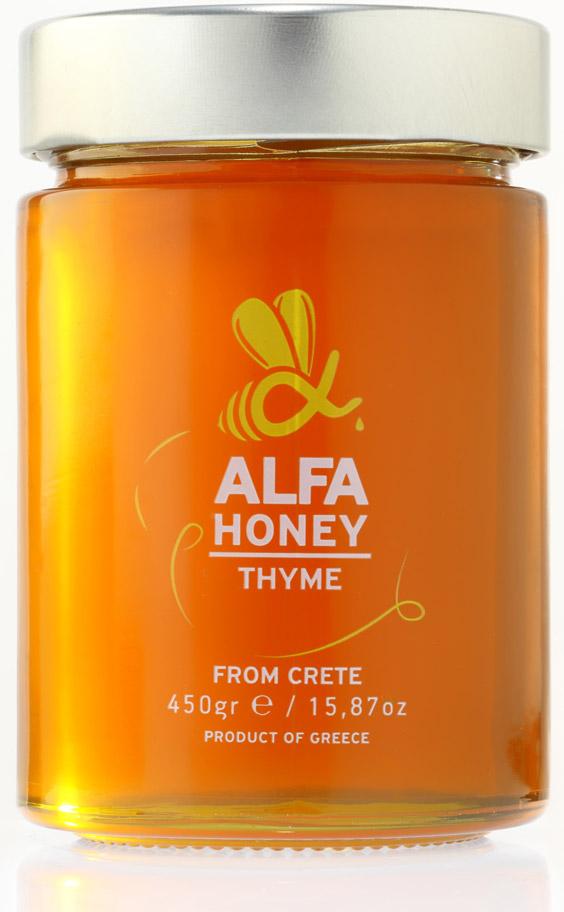 Κρητικό μέλι ALFA HONEY με Θυμάρι, Άγρια Βότανα & Πεύκο