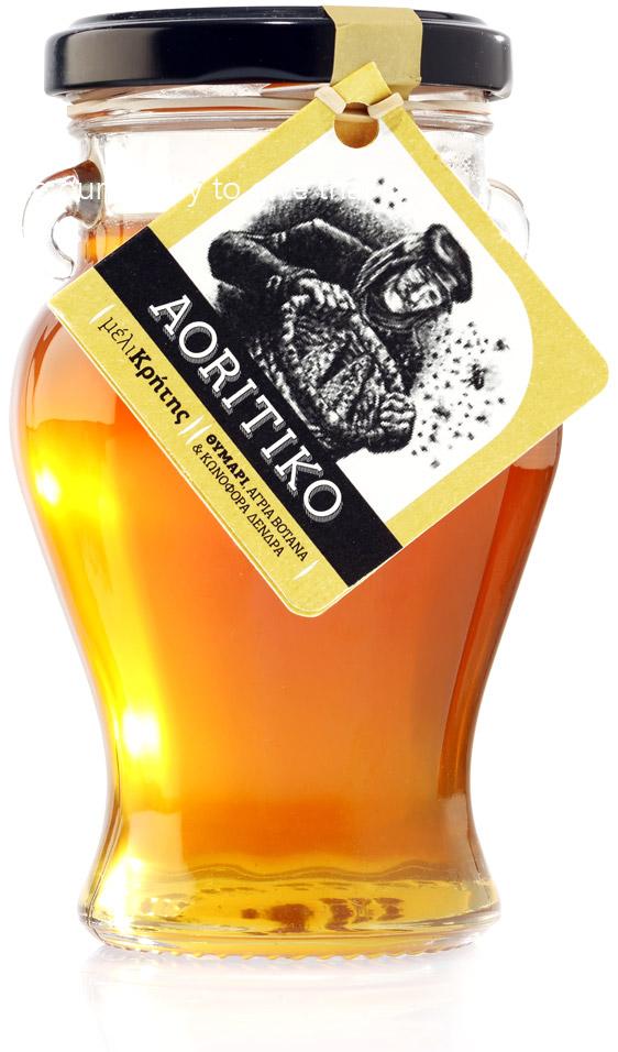 Κρητικό μέλι ΑΟΡΙΤΙΚΟ-Aoritiko με Θυμάρι, Άγρια Βότανα & Πεύκο